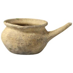 English Post Medieval Cooking Pot with Handle Probably Borderware, 16th Century