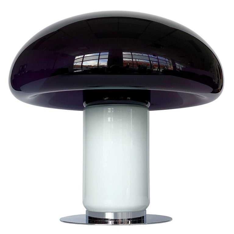 Vistosi Purple / Amethyst Mushroom Table Lamp For Sale