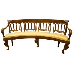 Louis Philiphe French corner  Bench Carved Walnut Corner  19th Century