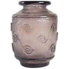 "Daum Nancy Thick Art Deco Vase ""Amethyst"""