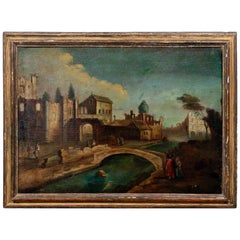 18th Century Italian School Old Master Landscape, City View