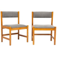 Set of Four Midcentury Danish Oak Dining Chairs by Børge Mogensen
