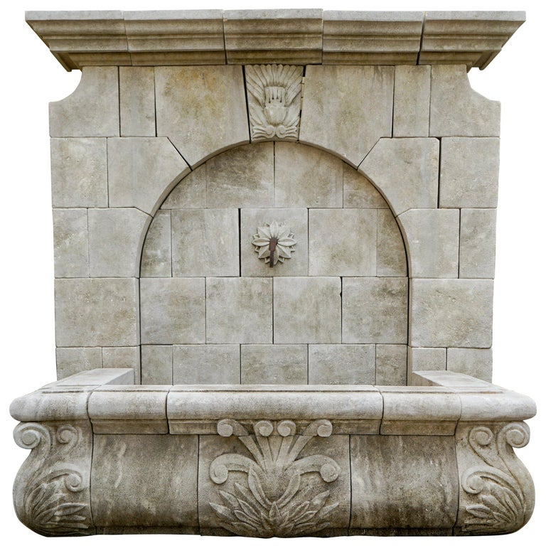 Gothic Revival Wall Fountain For Sale