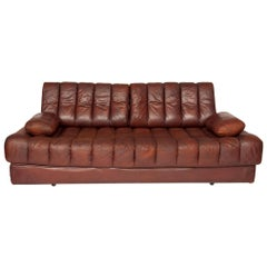 Brown Leather De Sede DS85 Sofa Bed or Daybed