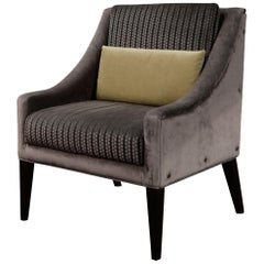 Lucina Lounge Armchair from Costantini, in Fabric from Kravet