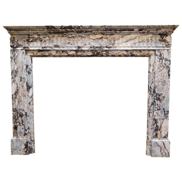 Antique Breccia Capraia Marble Mantel, circa 18th Century For Sale