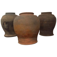 Set of 3 15th Century Vietnamese Pots