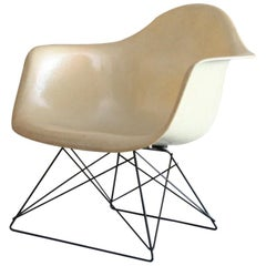 Charles and Ray Eames LAR Parchment Arm Shell on Cat's Cradle Base Chair