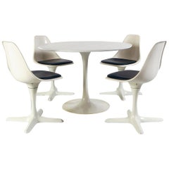 1960s White Space Age Dining Room Suite by Maurice Burke for Arkana Midcentury