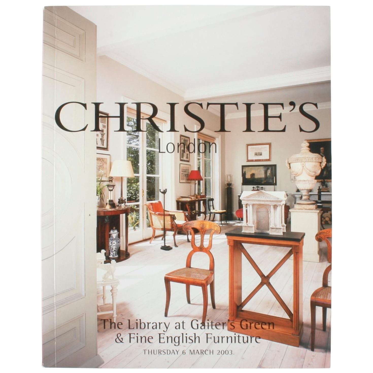 Christie's: Catalogue Library at Gaiter's Green & Fine English Furniture