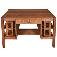 Arts & Crafts Mission Oak Wood Desk