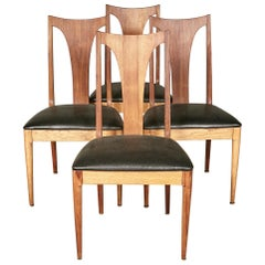 1960s Brasilia-Style Dining Chairs, Set of 4