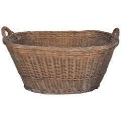 Rustic Wood Basket, circa 1940s