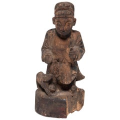 19th Century Chinese Carved Ancestor Figure