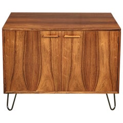 Danish Rosewood Flip Top Storage Cabinet