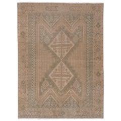 Antique Afshar Rug, Soft Palette