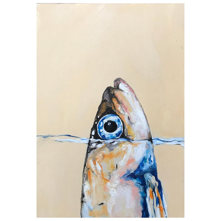 Sardine in the Wonderful Sea Fish Painting For Sale