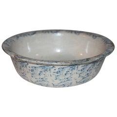 19th Century Spongware Bowl