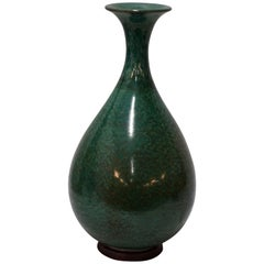 Green Splatter Glaze Vase, China, Contemporary