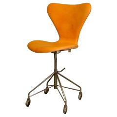 Early Production Series 7 Desk Chair Model 3217 by Arne Jacobsen, Fritz Hansen