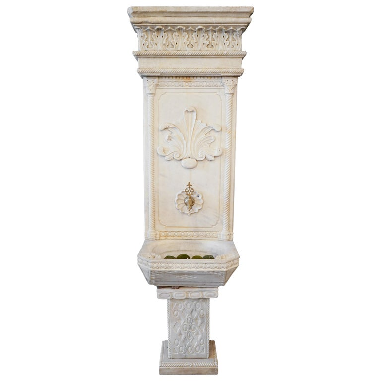 Late Ottoman Hamam Style Wall Fountain For Sale