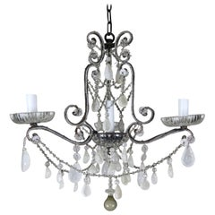 Rock Crystal Beaded Four-Light Chandelier