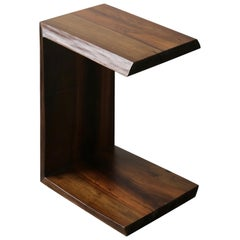 Carlo Live-Edge Cantilevered Occasional Table from Costantini