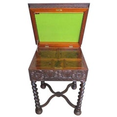 19th Century Swedish Scandinavian Gothic Sewing Table