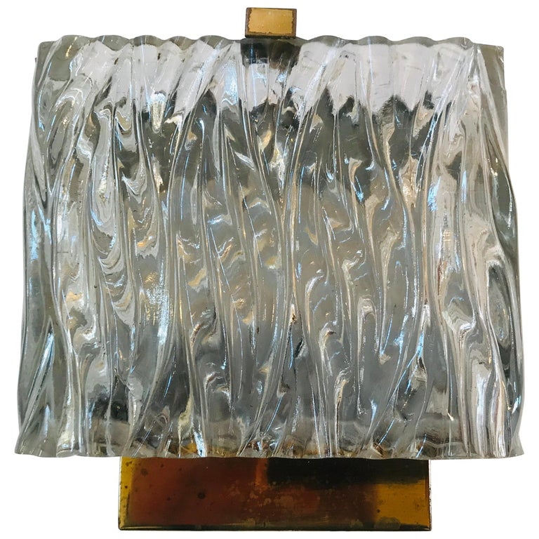 Maison Arlus French 1960s Glass Wall Light For Sale