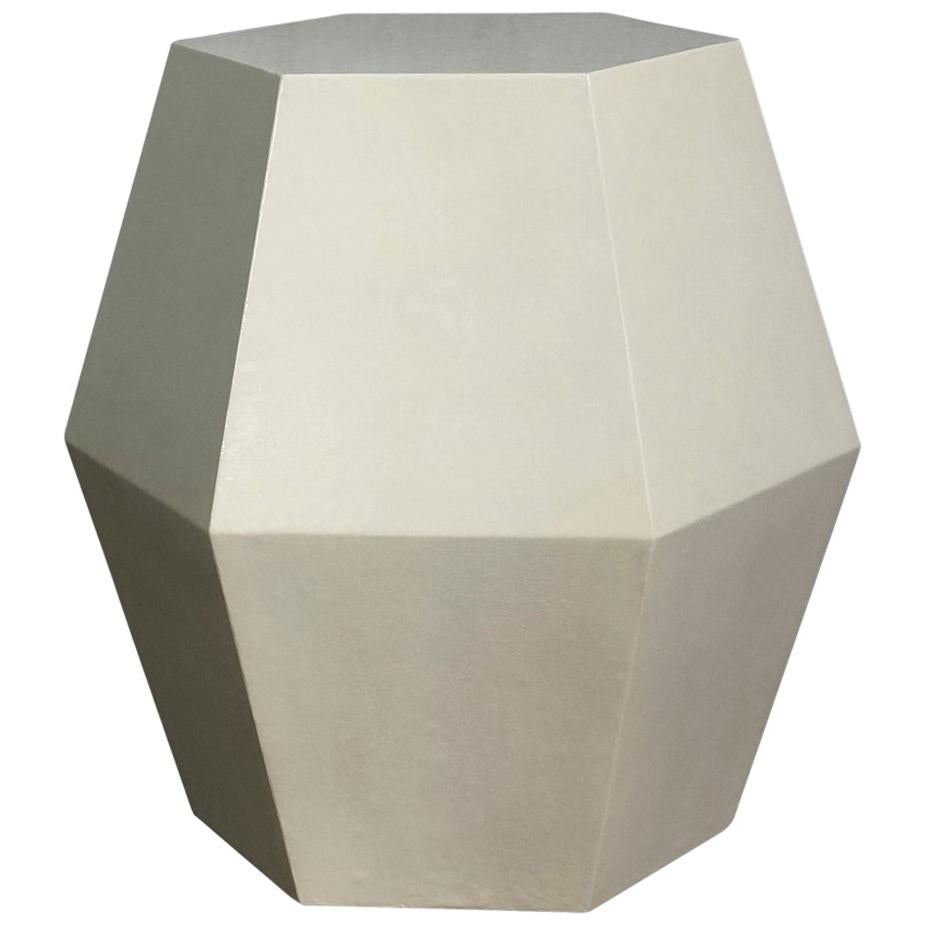 Modern Side Table in Faux Parchment from Costantini, Tamino Hex