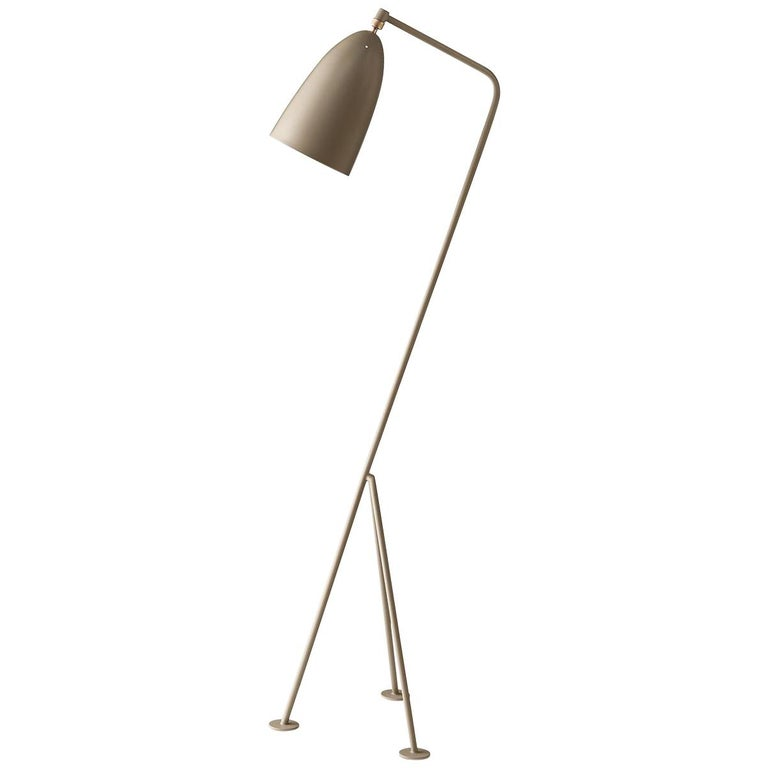 Greta Grossman Grasshopper Floor Lamp, Warm Grey For Sale