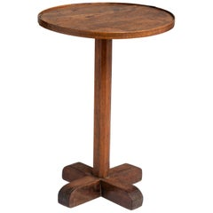 Walnut and Oak Primitive Side Table, France, circa 1860