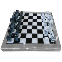 1973 Executive Games Acrylic Chess Set with Board