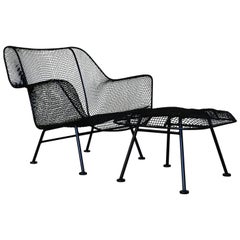 """Sculptra"" Lounge Chair and Ottoman by Russell Woodard"