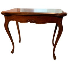 Transitional  Burled Wood Flip-Top Convertible Console or Dining Table