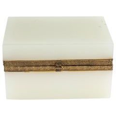 French Opaline Fitted Glass Box