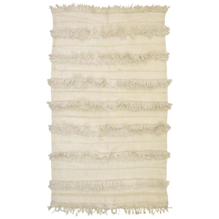 Vintage Moroccan Wedding Blanket, Berber Handira Tamizart For Sale
