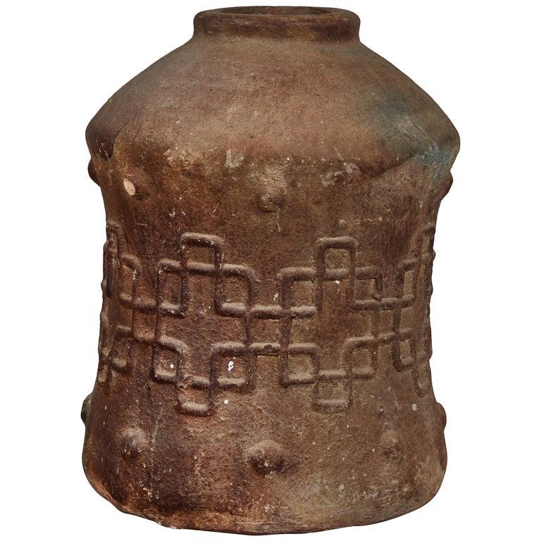 Antique Korean Terracotta Crock For Sale