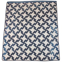 Antique Quilt Blue and White Drunkers/Drunkard's Path