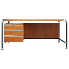 Ico Parisi Office Desk Writing Table for MIM Midcentury, 1960
