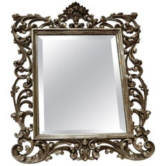 19th Century French Baroque Giltwood Vanity or Wall Mirror