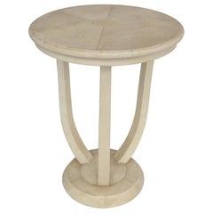 Maitland Smith Tri-Leg Shagreen Side Table