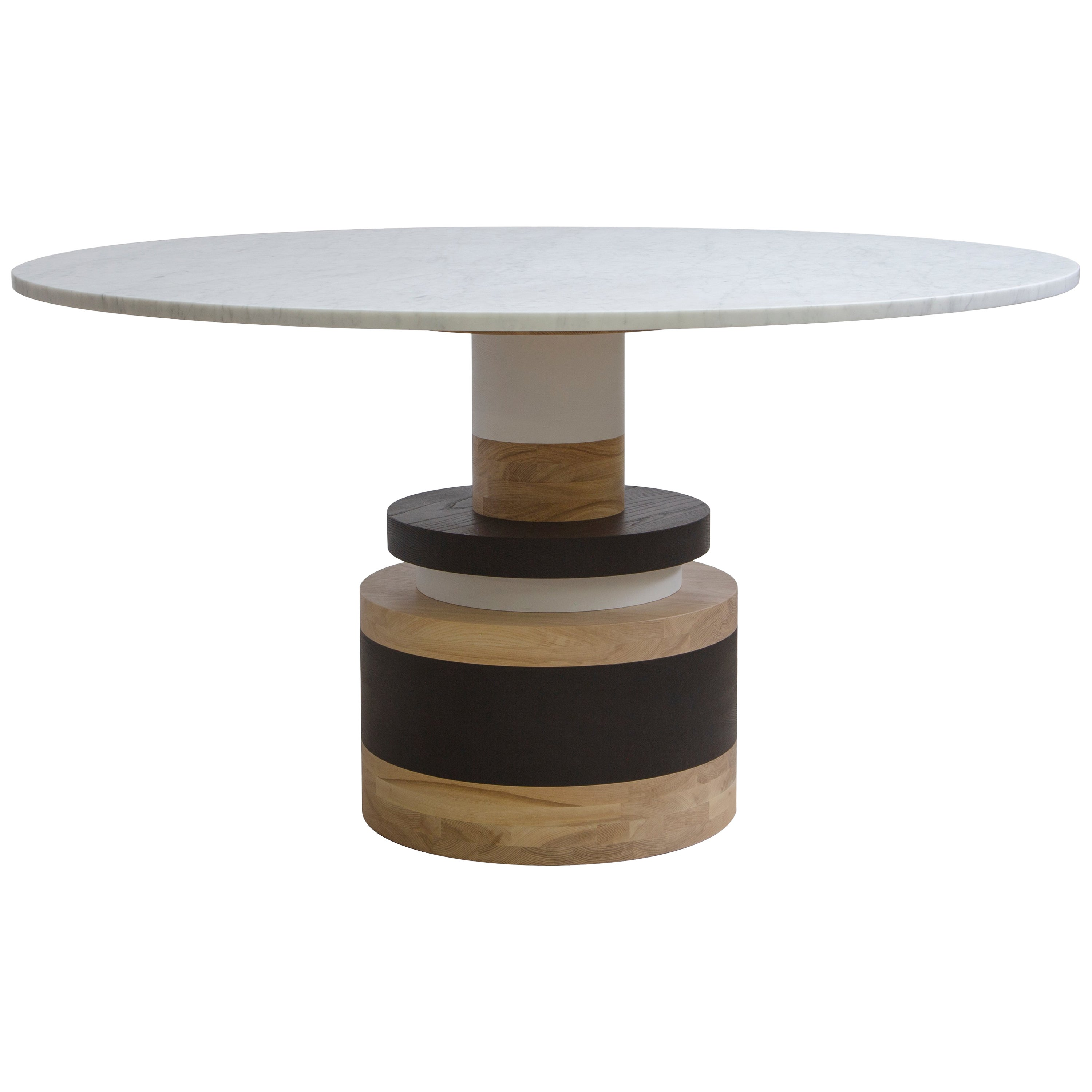 Customizable Sass Dining Table from Souda, Medium, White Marble Top