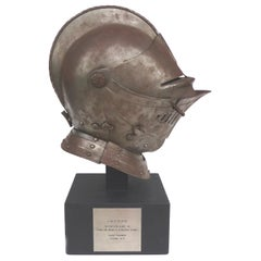 Antique Steel Jousting Presentation Helmut from IBM CEO Jacques Maisonrouge