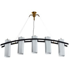 Model No. 12701 Five Shade Chandelier by Angelo Lelli for Arredoluce