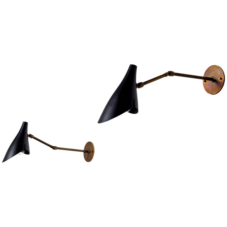 Pair of Sconces by Lumen For Sale