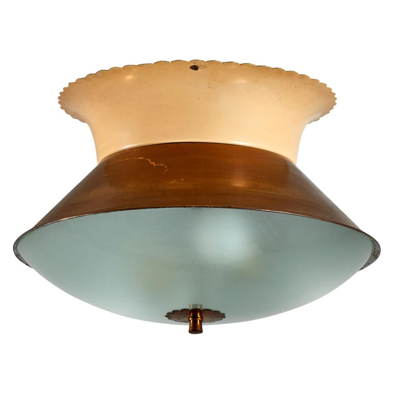 Flush Mount Ceiling Light by Lumi For Sale