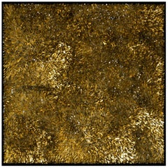 Murano Glass and Gold Leaf Mosaic by CaCO3, Titled Movimento 93
