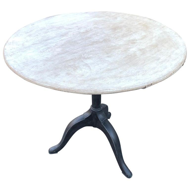 Gustavian Tilt-Top Pedestal Table, Sweden For Sale