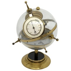 """Sputnik"" Table Barometer Weather Station Mid-Century Modern, German, 1960s"